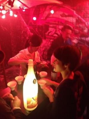 日本酒もサーブ